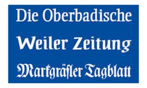 Lokalzeitung Oberbadische Zeitung Weiler Zeitung Tagesblatt Blau Zeitungsartikel